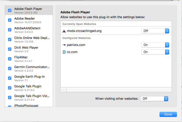 current version plugin adobe aam detect